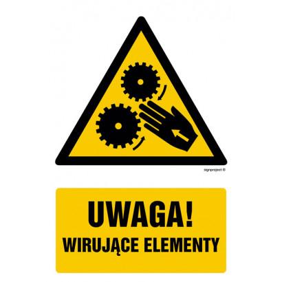 Uwaga, wirujące elementy