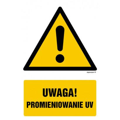 Uwaga promieniowanie UV