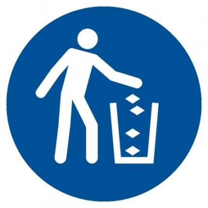 Nakaz używania pojemnika na śmieci