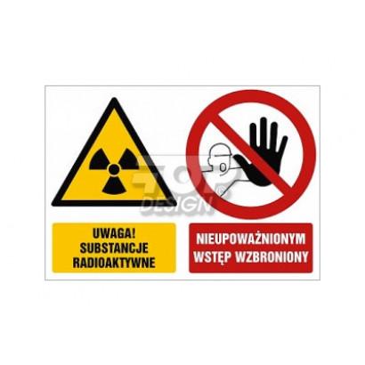 Uwaga substancje radioaktywne Nieupoważnionym wstęp wzbroniony