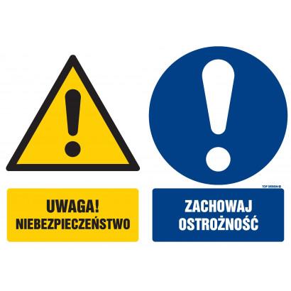 Znak - Uwaga niebezpieczeństwo Zachowaj ostrożność GM100