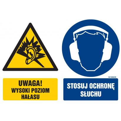 Znak - Uwaga! wysoki poziom hałasu GM112