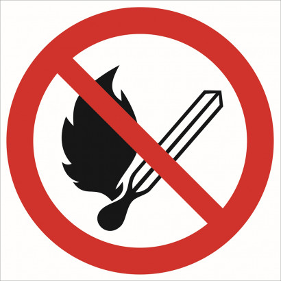 Zakaz używania otwartego ognia zakaz palenia tytoniu