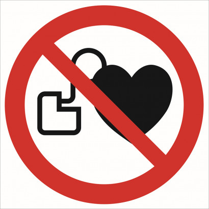 Zakaz wstępu osobom z rozrusznikiem serca