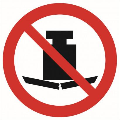 Zakaz umieszczania ciężkich przedmiotów
