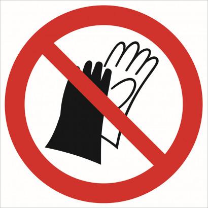 Zakaz używania rękawic