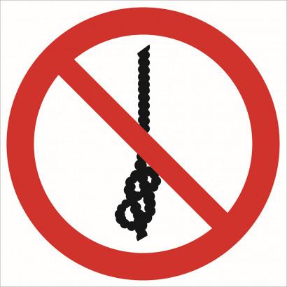 Zakaz wiązania węzłów na linie