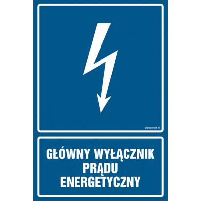 Główny wyłącznik energetyczny prądu