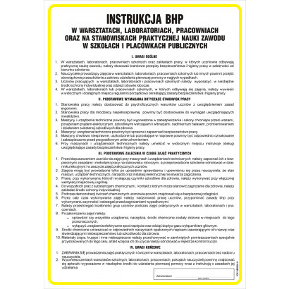 Instrukcja ogólna BHP w warsztatach