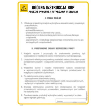 Instrukcja BHP dla sprzątaczek i osób zatrudnionych przy sprzątaniu