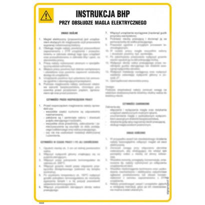 Instrukcja BHP przy obsłudze kasy fiskalnej