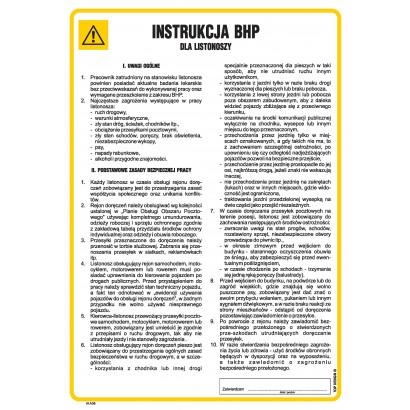 Instrukcja BHP dla listonosza