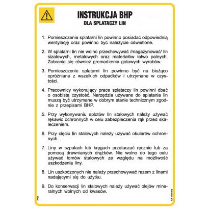 Instrukcja bhp dla splataczy lin