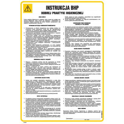 Instrukcja ogólna BHP dobrej praktyki higienicznej