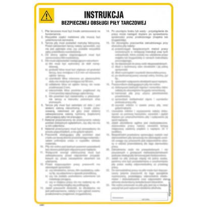 Instrukcja bezpiecznej obsługi piły tarczowej