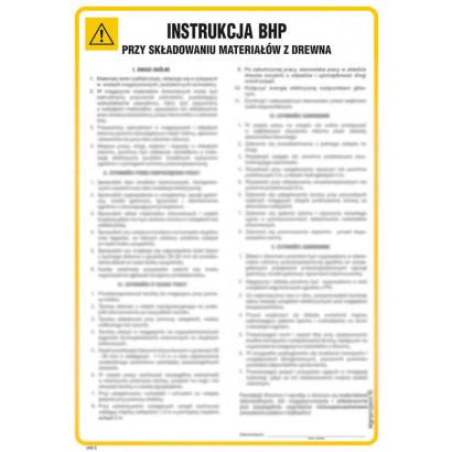 Instrukcja BHP przy składowaniu materiałów z drewna