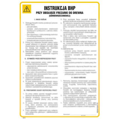 Instrukcja BHP frezarki górnowrzecionowej do drewna