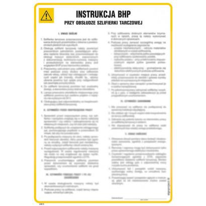 Instrukcja BHP przy obsłudze szlifierki tarczowej do drewna