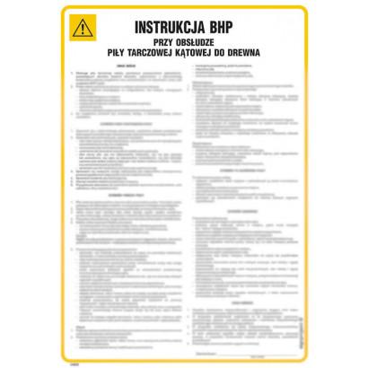 Instrukcja BHP przy obsłudze traka
