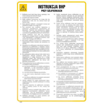 Instrukcja BHP przy szlifierkach