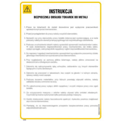 Instrukcja bezpiecznej obsługi tokarek do metali