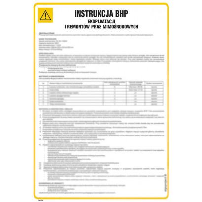 Instrukcja BHP eksploatacji i remontów pras mimośrodowych
