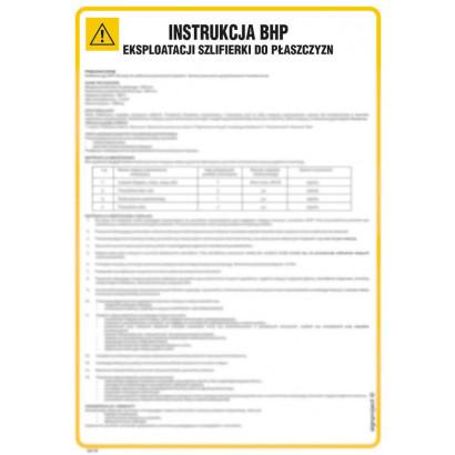 Instrukcja BHP eksploatacji szlifierki do płaszczyzn