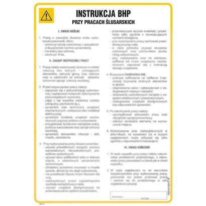 Instrukcja BHP przy pracach ślusarskich