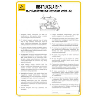Instrukcja BHP bezpiecznej obsługi strugarek do metali