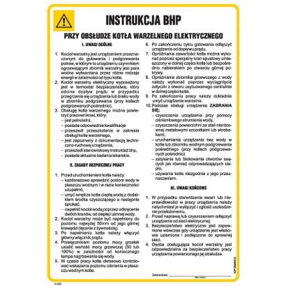 Instrukcja BHP przy obsłudze kotła warzelnego elektrycznego
