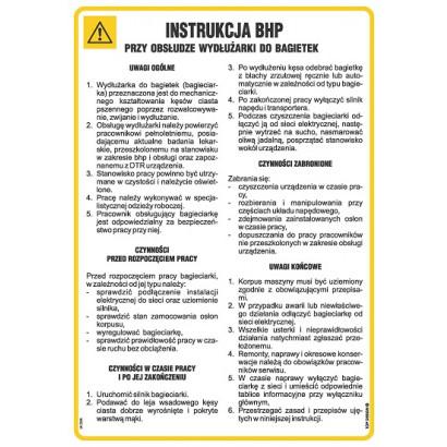 Instrukcja BHP przy obsłudze wydłużarki do bagietek