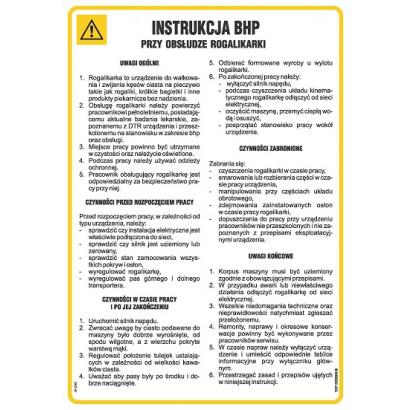 Instrukcja BHP przy obsłudze rogalikarki