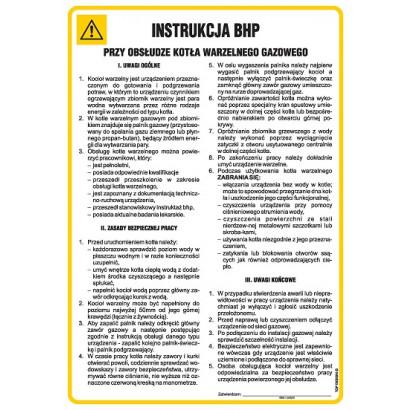 Instrukcja BHP przy obsłudze kotła warzelnego gazowego