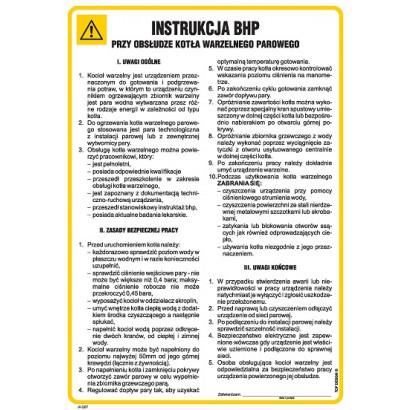 Instrukcja BHP przy obsłudze kotła warzelnego parowego