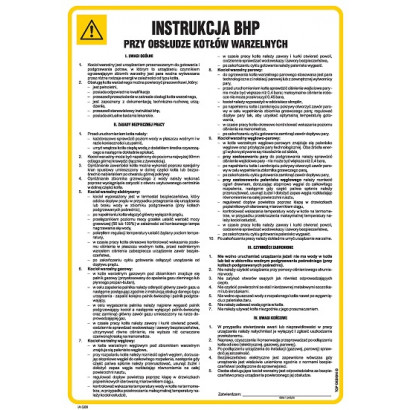 Instrukcja BHP przy obsłudze kotłów warzelnych