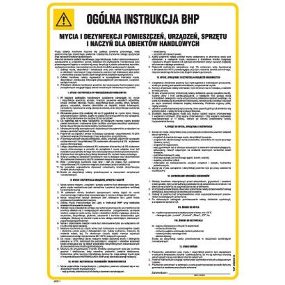 Instrukcja BHP mycia i denzynfekcji pomieszczeń