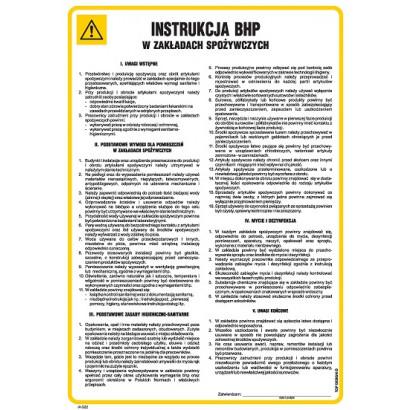 Instrukcja BHP w zakładach spożywczych IAG22