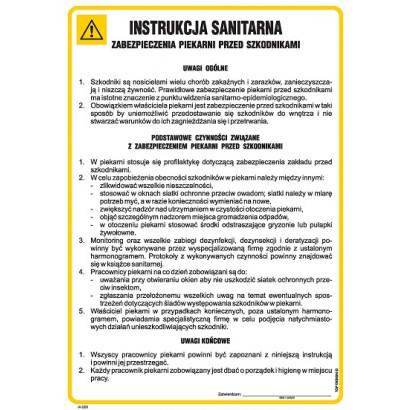 Instrukcja sanitarna zabezpieczenia piekarni przed szkodnikami