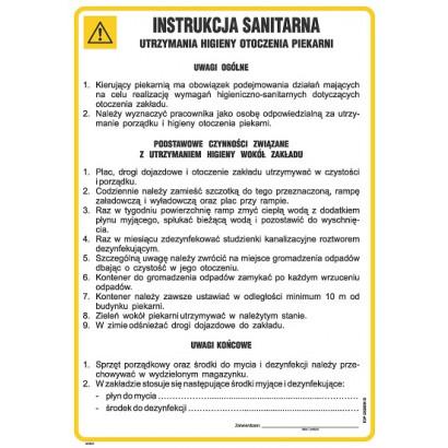 Instrukcja sanitarna utrzymania higieny otoczenia piekarni