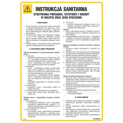 Instrukcja sanitarna utrzymania porządku