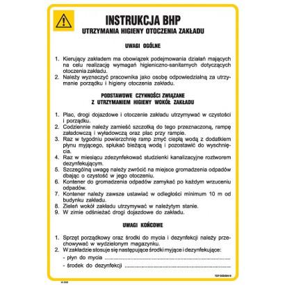 Instrukcja BHP utrzymania higieny otoczenia zakładu