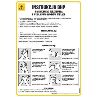 Instrukcja BHP higienicznego korzystania z wc dla pracowników zakładu