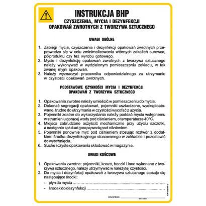 Instrukcja BHP higieny osobistej pracowników i higieny na stanowisku pracy