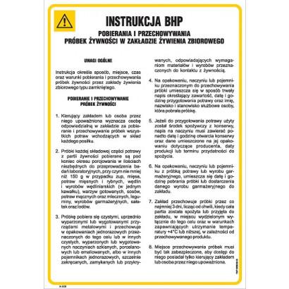 Instrukcja sanitarna pobierania i przechowywania próbek żywności w zakładzie żywienia zbiorowego
