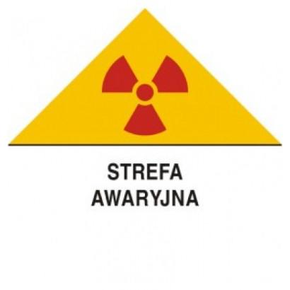 Znak ostrzegawczy do oznakowania strefy awaryjnej
