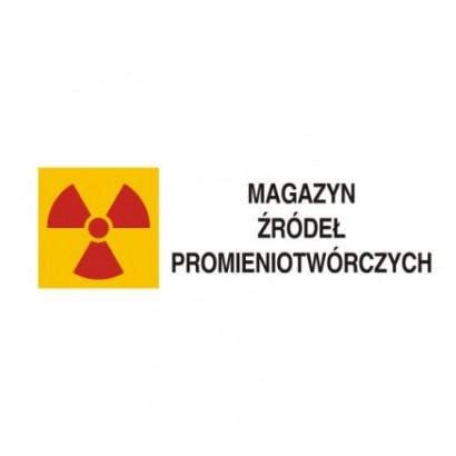 Znak ostrzegawczy do oznakowania magazynu źródeł promieniotwórczych