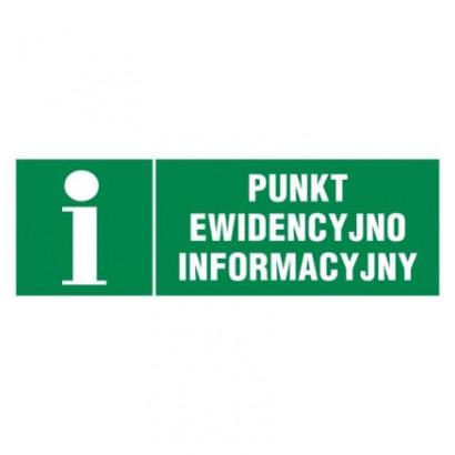 Punkt ewidencyjno informacyjny - znak