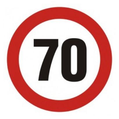 Ograniczenie prędkości 70