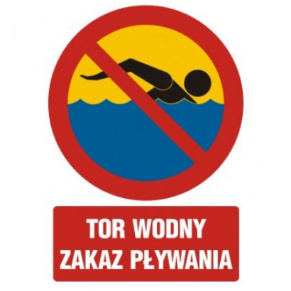 Tor wodny zakaz pływania