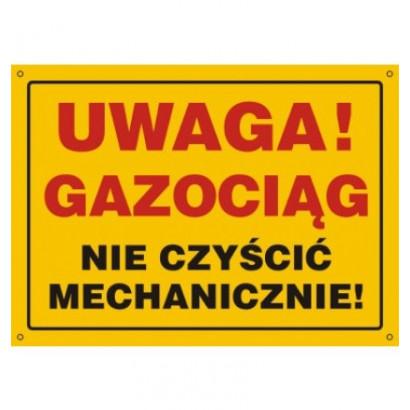 Uwaga gazociąg nie czyścić mechanicznie